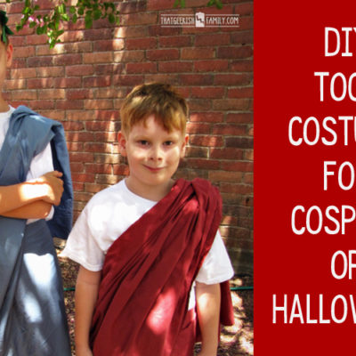 DIY Toga Costume for Cosplay or Halloween