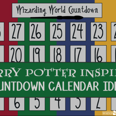 Harry Potter Countdown Calendar Ideas