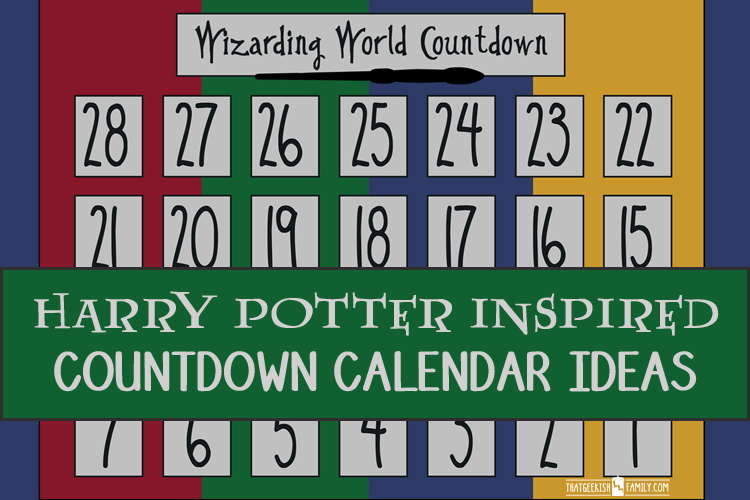 Harry Potter Countdown Calendar Ideas