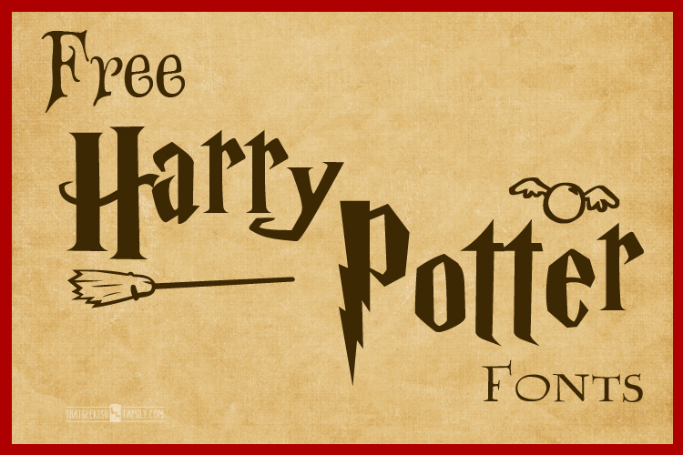 Free Harry Potter Fonts