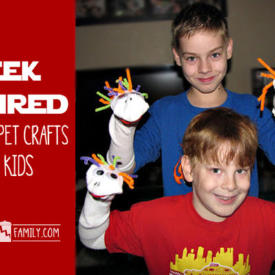 Geek Inspired Sock Puppet Crafts for Kids