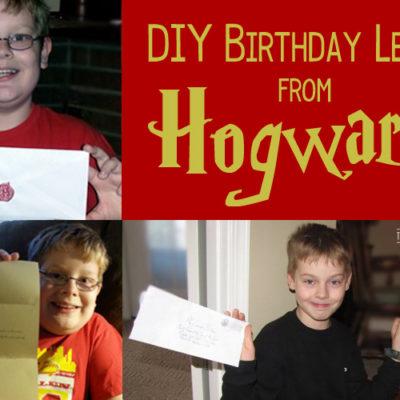 DIY Birthday Letter from Hogwarts School