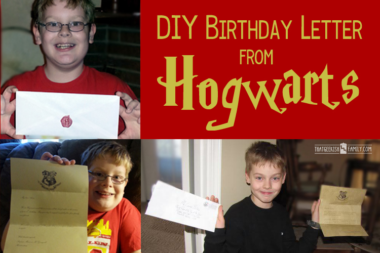 Shouldn't everyone receive a letter from Hogwarts for their birthday? I know I want one!!!