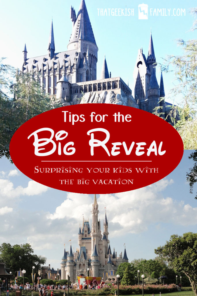 Surprising your kids with a trip to Universal Harry Potter or Disney? Here are 8 tips for the Big Reveal to make it a special memory for your family forever!
