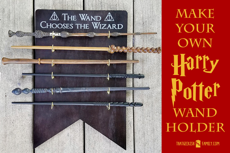 Make your own Harry Potter Wand Holder and Display to keep your wands out of the hands of muggles with this easy DIY project from ThatGeekishFamily.com
