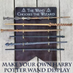 Make your own Harry Potter Wand Holder and Display to keep your wands out of the hands of muggles with this easy DIY project from ThatGeekishFamily.comMake your own Harry Potter Wand Holder and Display to keep your wands out of the hands of muggles with this easy DIY project from ThatGeekishFamily.com
