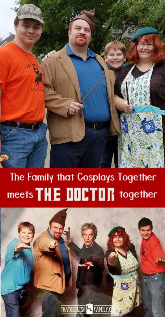 The family that cosplays together meets Peter Capaldi of Doctor Who together at the Dallas Fan Expo 2016