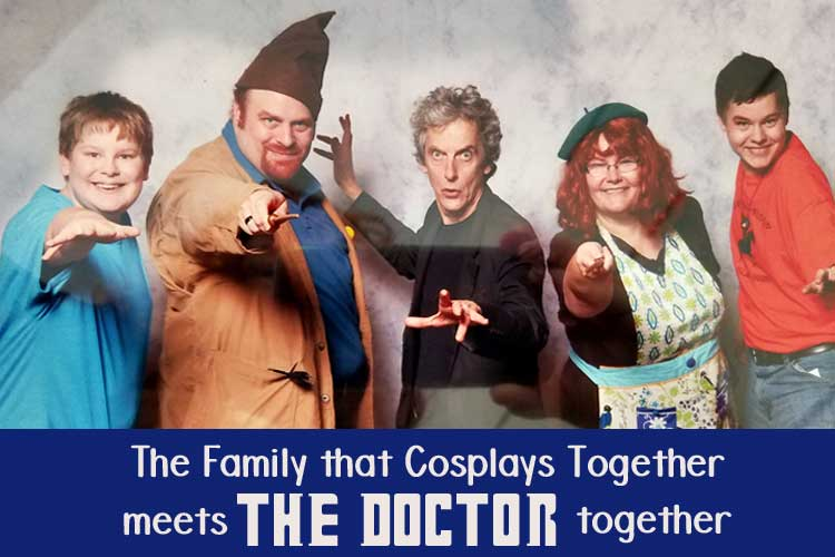 The Family Who Cosplays Together Meets The Doctor Together!