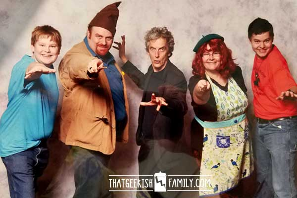 The Family that Cosplays Together .... or how I finally got the guts to play dress up in front of other geeks at the Dallas Comicon with Peter Capaldi of Doctor Who