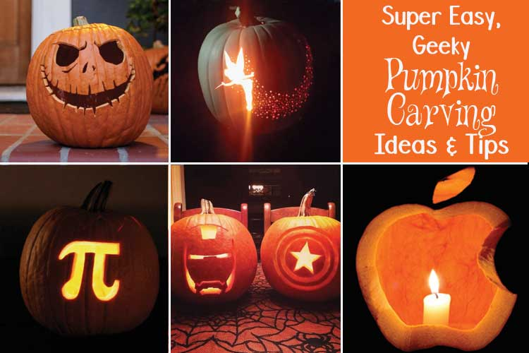 Easy DIY Geeky Pumpkin Carving Ideas