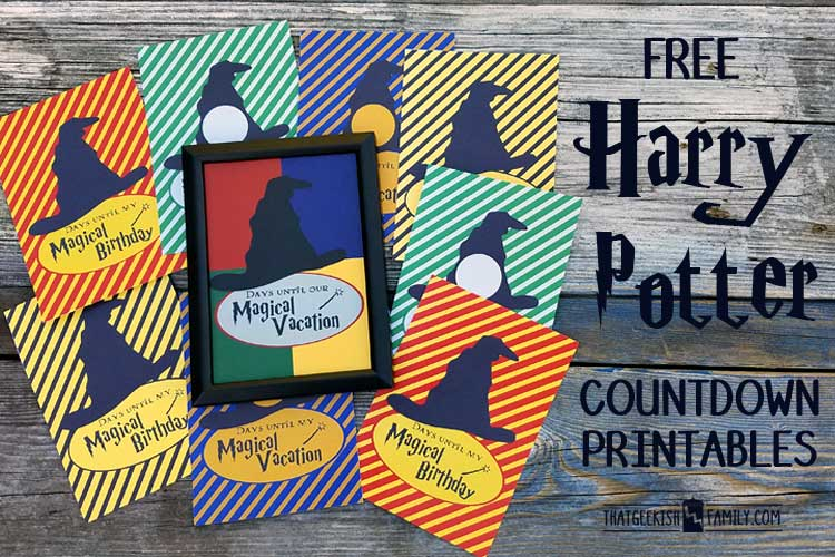 Are you planning the best vacation ever to the Wizarding World ... or having a Harry Potter themed birthday party? Get these free countdown printables to help countdown the days until ....