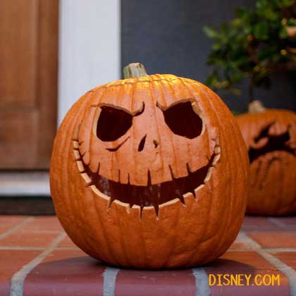 Don't let pumpkin carving season be stressful. Here are some easy DIY, geeky pumpkin carving ideas! Disney Jack Skellington Carved Pumpkin