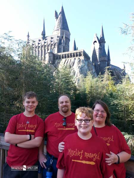 Hogwarts Castle Photo Op - Our first visit to Universal Orlando and Wizarding World of Harry Potter - come check it out for details on vacation planning and having fun!