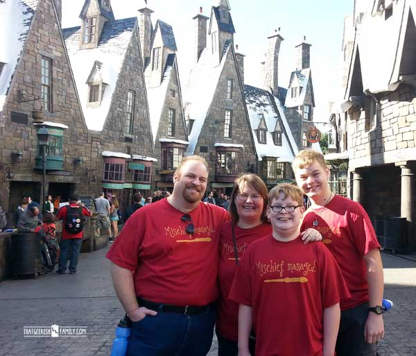 Hogsmeade Photo Op - Our first visit to Universal Orlando and Wizarding World of Harry Potter - come check it out for details on vacation planning and having fun!