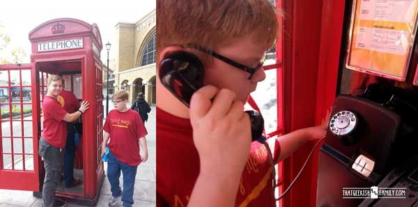 Ministry of Magic Phone Booth - Our first visit to Universal Orlando and Wizarding World of Harry Potter - come check it out for details on vacation planning and having fun!