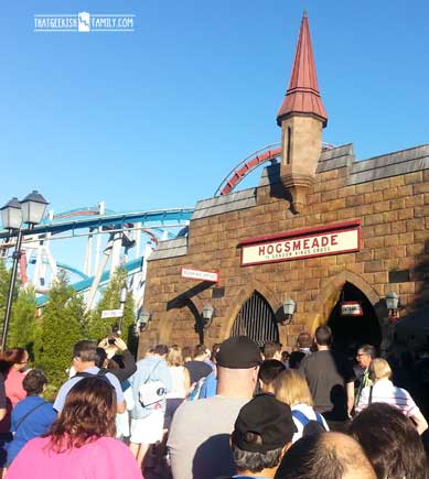Hogsmeade Station Queue - Seussland: Our first visit to Universal Orlando and Wizarding World of Harry Potter - come check it out for details on vacation planning and having fun!