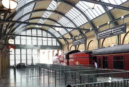 Kings Cross Station: Our first visit to Universal Orlando and Wizarding World of Harry Potter - come check it out for details on vacation planning and having fun!