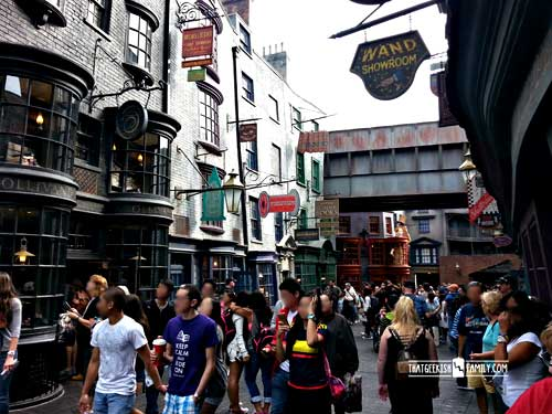 Diagon Alley: Our first visit to Universal Orlando and Wizarding World of Harry Potter - come check it out for details on vacation planning and having fun!