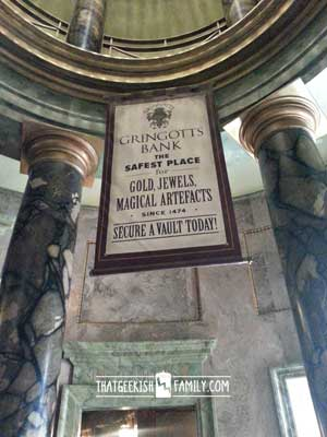 Gringotts Bank: Our first visit to Universal Orlando and Wizarding World of Harry Potter - come check it out for details on vacation planning and having fun!