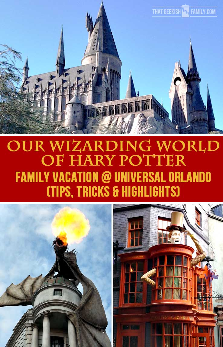 Our first visit to Universal Orlando and Wizarding World of Harry Potter - come check it out for details on vacation planning and having fun!