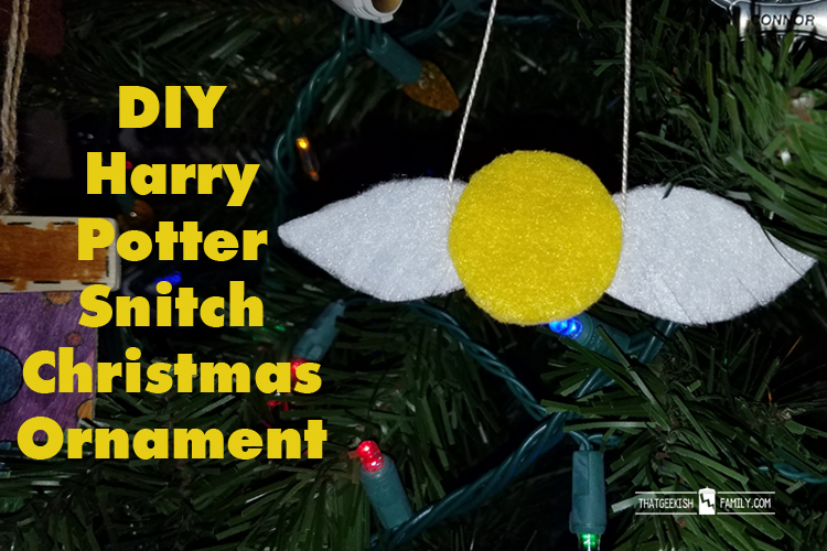 DIY Harry Potter Snitch Christmas Tree Ornament