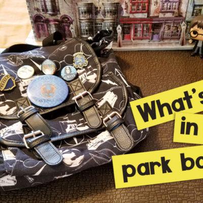 What's in my Universal Studios Park Bag