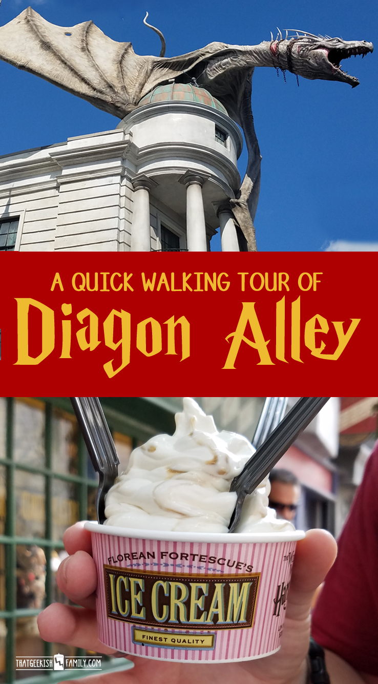 A quick walking tour of Diagon Alley at the Wizarding World of Harry Potter / Universal Studios, Orlando, Florida. Join us on our family vacation as we take a walk through!