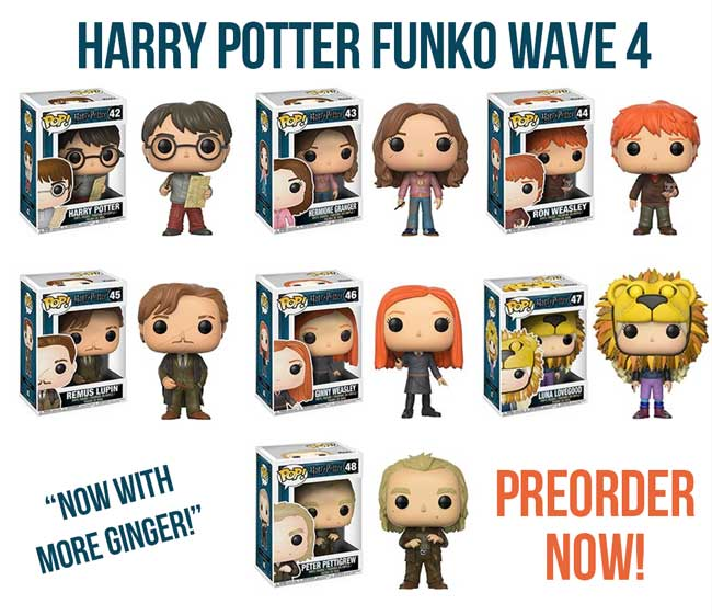 Harry Potter Funko Pop Wave 4 Preorder September 2017