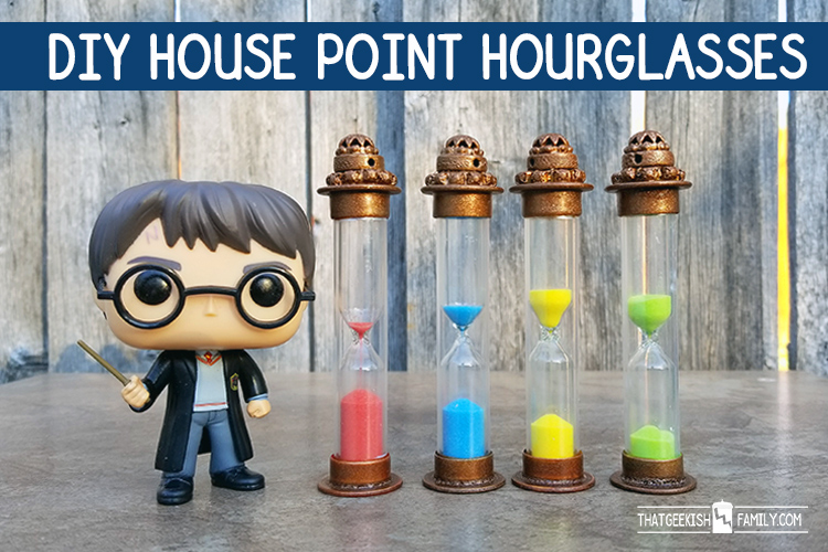 DIY Harry Potter House Point Hourglasses